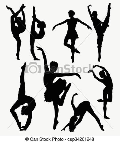 397x470 Dancer Silhouette. Tradition And Modern Dance Silhouette . Eps