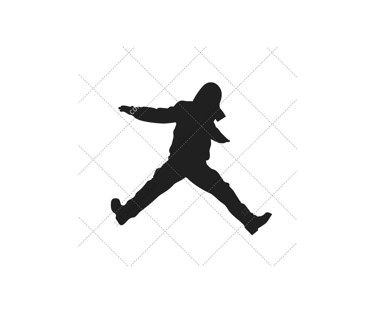 1200x1000 Jump Dancer Silhouette Clipart