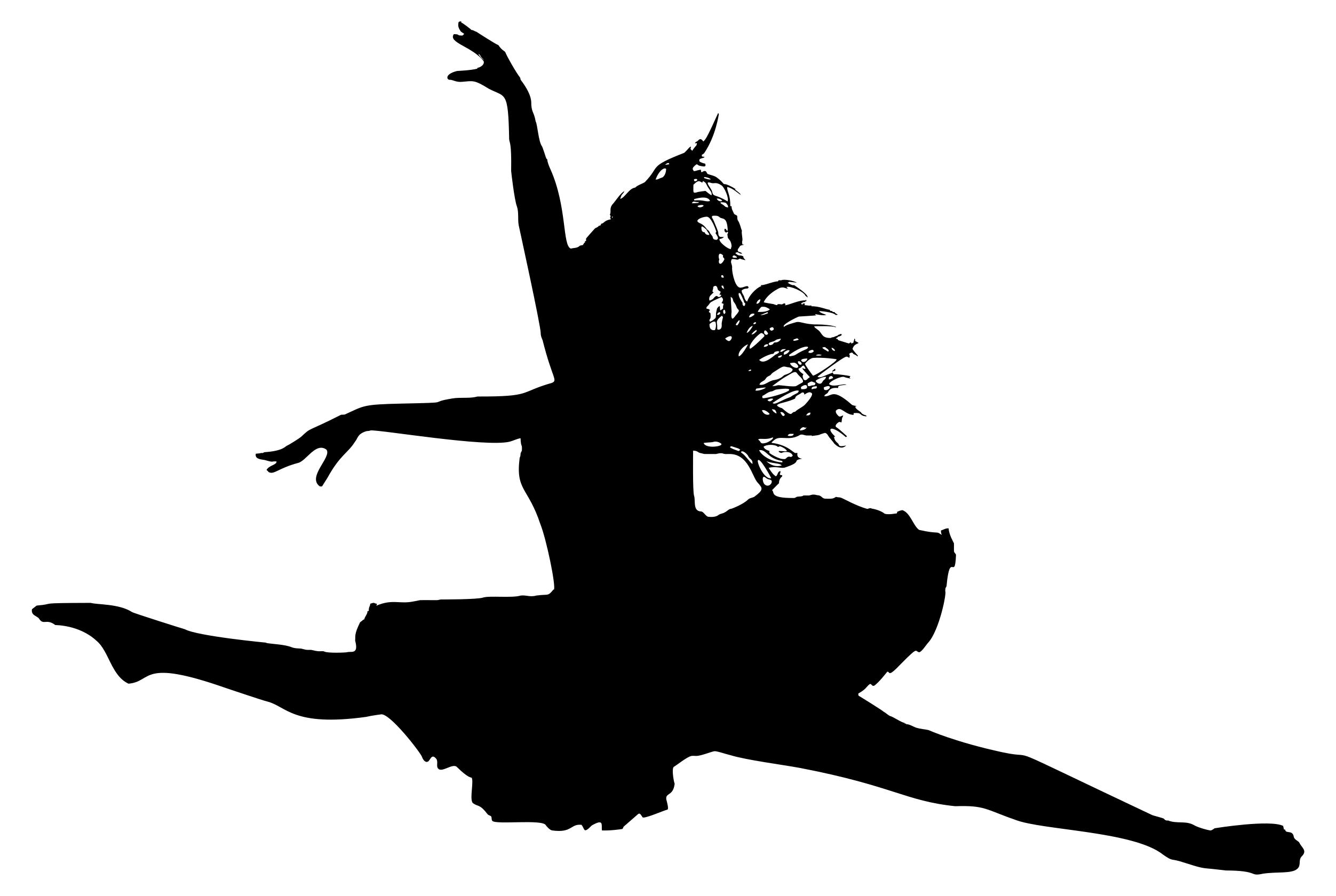 2504x1680 Jumping Ballerina Silhouette Clipart