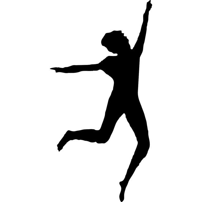 660x660 Woman Dancing Silhouette Free Vector Free Vectors Ui Download