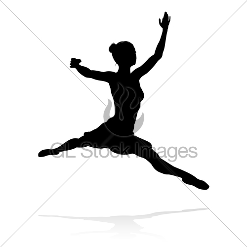 500x500 Ballet Dancer Silhouette Gl Stock Images