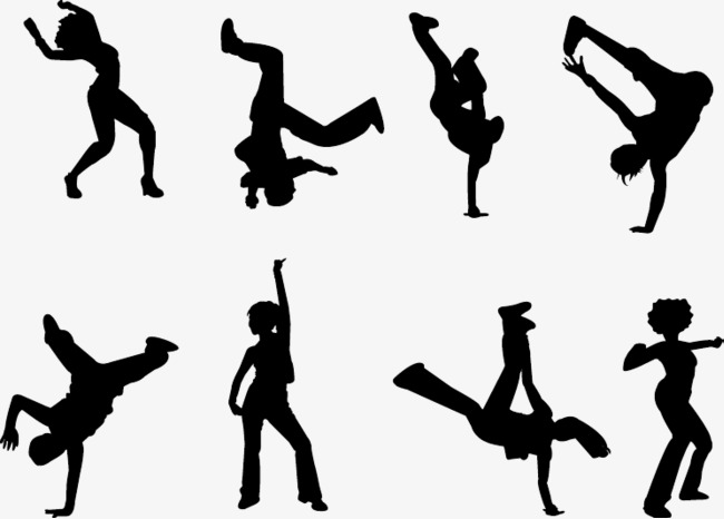 650x466 Dance Silhouette, Jumping Up People, Jumping Up Png Image