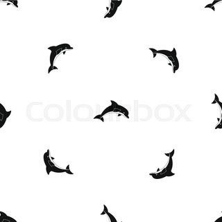 320x320 Dolphin Silhouette Stock Vector Colourbox
