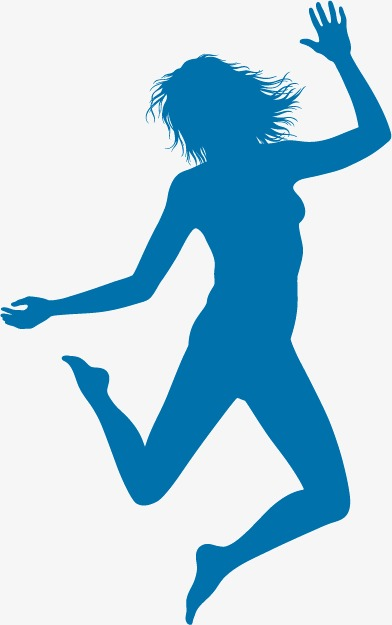 392x625 Jumping Girl, Silhouette Girl, Jump, Cheerful Png And Vector
