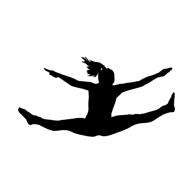 630x630 Limited Edition. Exclusive Jumping Girl Silhouette 2