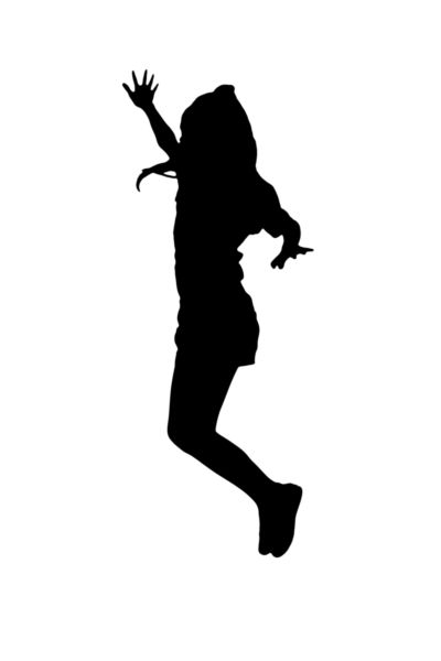 400x600 Silhouette Image Of A Girl Jumping.