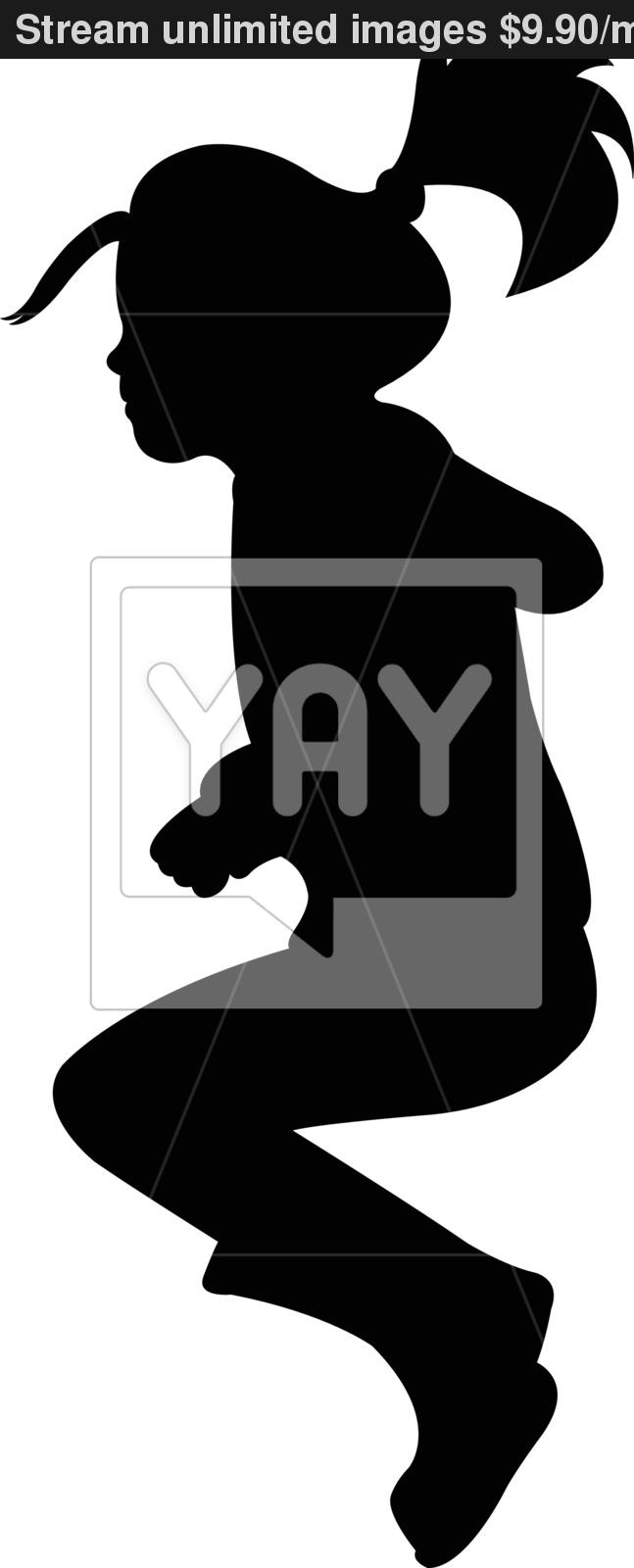 647x1600 Jumping Girl Silhouette Vector Vector