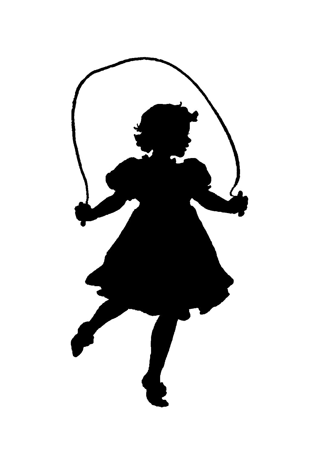 1077x1562 School Girl Jumping Rope Clipart