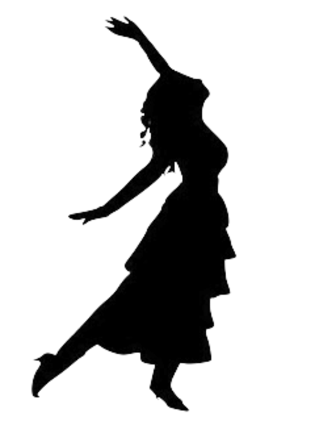 450x600 Dancing Girl Silhouette Free Images
