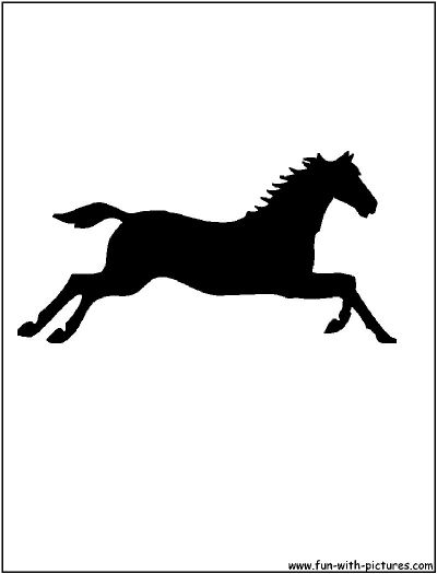 400x525 Jumping Horse Silhouette Coloring Pages