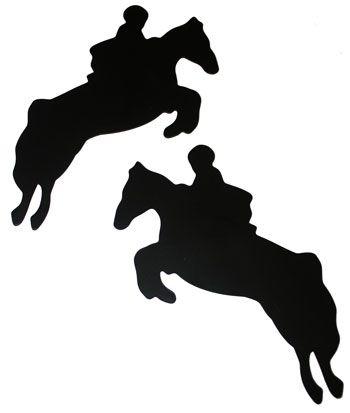 350x413 Jumping Horse Silhouette Magnet Set Ltgt Silhouette Stuff