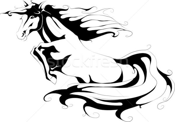 600x420 Jumping Horse Silhouette Vector Illustration Julia Smirnova