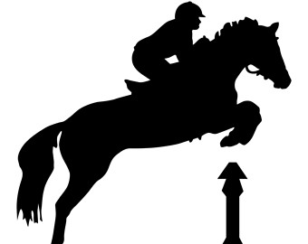 340x270 Show Jumping Horse Silhouette