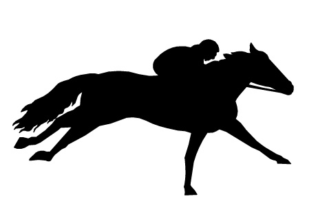 462x312 Horse On Jockey Silhouette Clipart Png