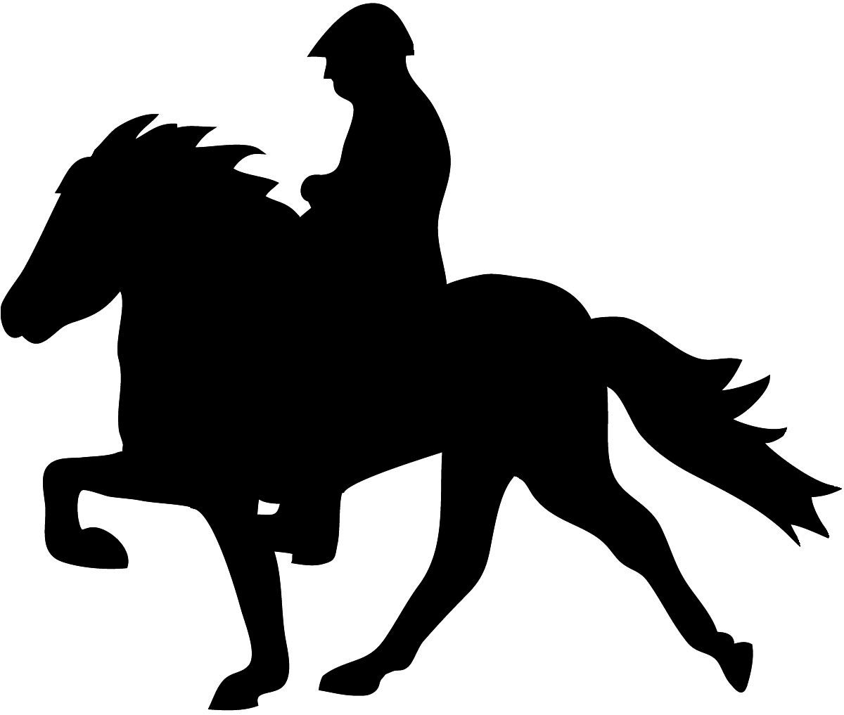 1200x1017 Horse Jumping Silhouette Outline