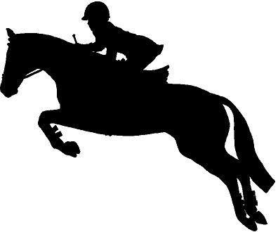 396x330 Jumping Horse Silhouette Clip Art
