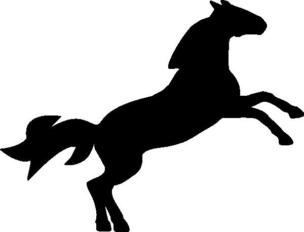600x458 Jumping Horse Silhouette Clip Art