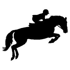 225x225 Jumping Horse Silhouette