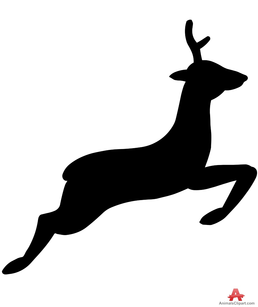 840x999 Jumping Deer Silhouette Free Clipart Design Download
