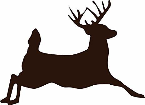463x336 Jumping Deer Silhouette