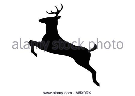 450x320 Jumping Reindeer Silhouette Stock Vector Art Amp Illustration