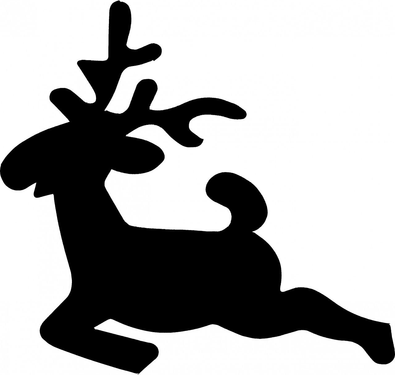 1280x1216 Reindeer Jumping Stencil