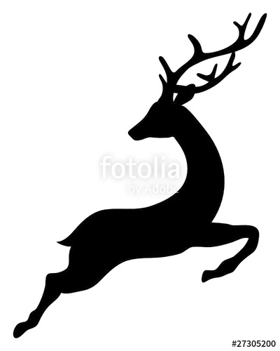 400x500 Reindeer Jumping Stock Image And Royalty Free Vector Files