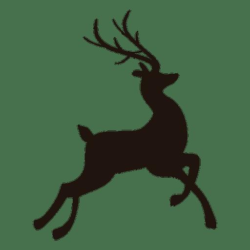 512x512 Reindeer Jumping Silhouette 12
