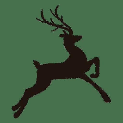 512x512 Reindeer Silhouette Jumping 15