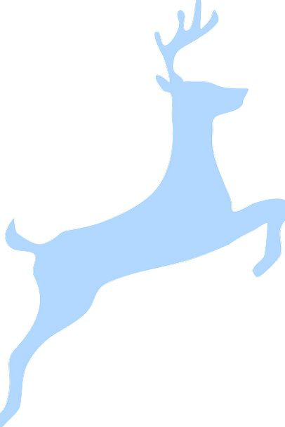 406x609 Deer, Hopping, Silhouette, Outline, Jumping, Stag, Blue, Azure