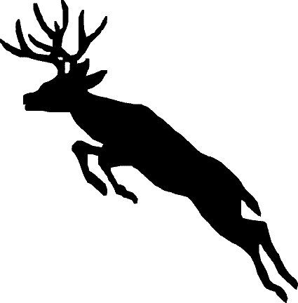 425x432 Deer Decal 09, Hunting Decals, Fishing Decals, Hunting Sticker