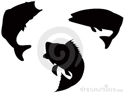 400x301 Jumping Fish Silhouette Clipart