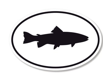 340x270 Trout Decal Etsy