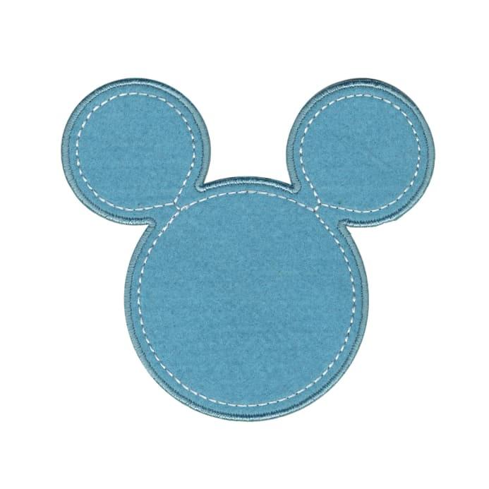 693x693 Disney Mickey Mouse Iron On Applique Mickey Blue Silhouette