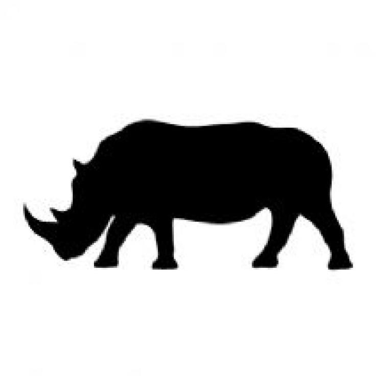736x736 Rhino Silhouette Clip Art