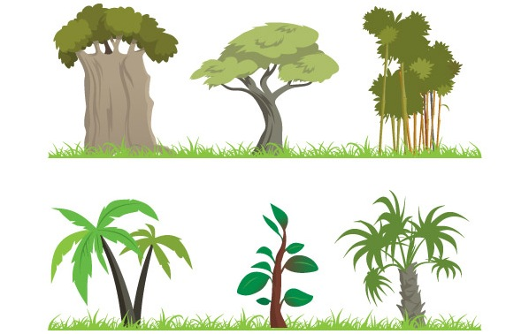 598x378 Shrub clipart jungle tree