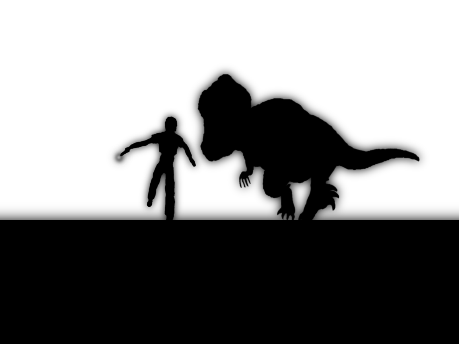 1600x1200 Wallpaper Jurassic Park, T Rex, Silhouette, Monochrome 1600x1200
