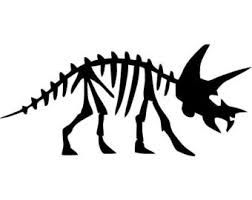 252x200 Simple Dinosaur Skeleton