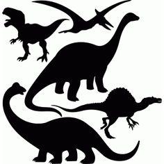 236x236 Dinosaur Silhouette