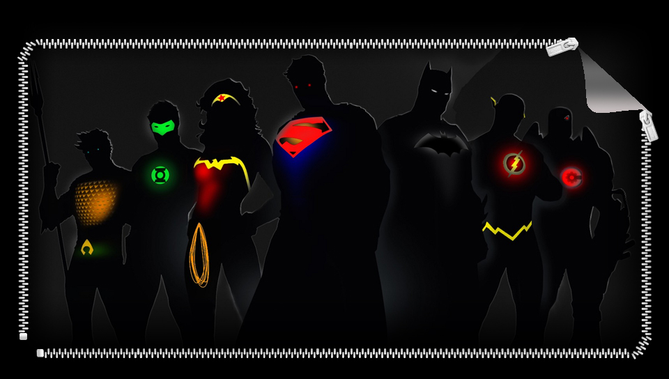 960x544 Justice League Silhouettes Ps Vita Wallpapers
