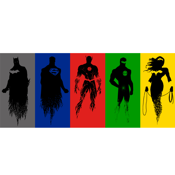600x600 Justice League Silhouettes Qcumber