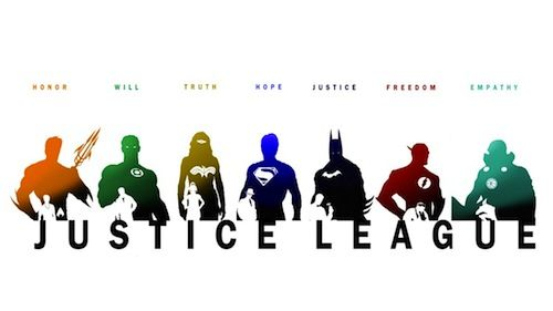 500x281 Pics For Gt Justice League Silhouette Wallpaper Dc Comics