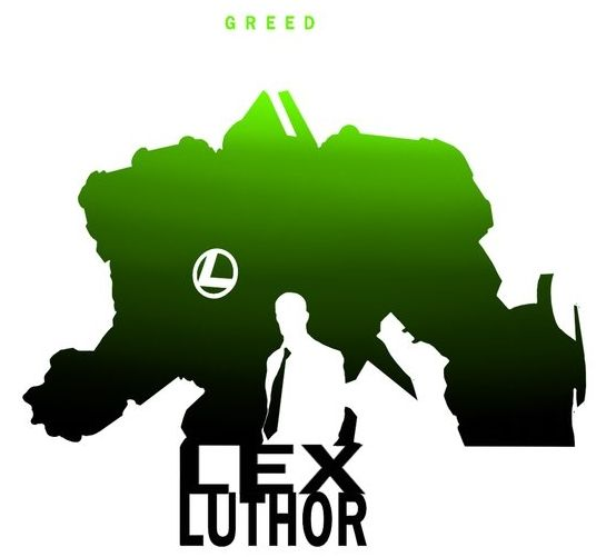 545x501 Silhuetas De Super Por Steve Garcia Justice League, Lex