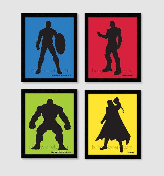 570x609 Superheroes Marvel Dc Comics Avengers Justice League Silhouette