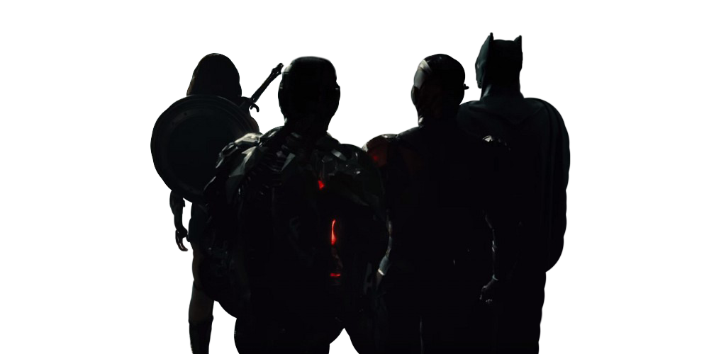 1000x500 Justice League From Behind Transparent Shot By Savagecomics