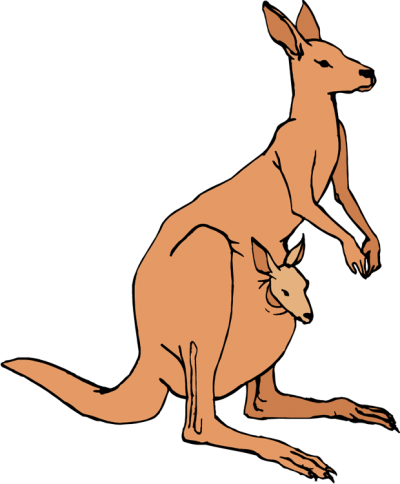 400x484 Kangaroo Clipart Clipartaz Free Clipart Collection