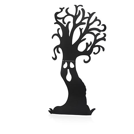 466x466 66 12 Metal Haunted Tree Silhouette Yard Decoration