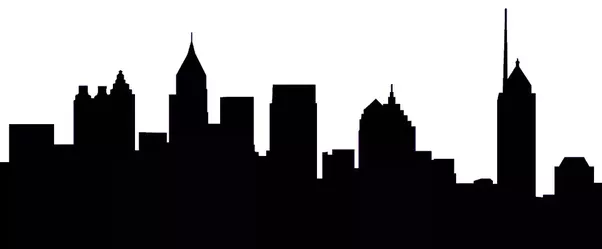 602x249 City Skyline Outline Drawing