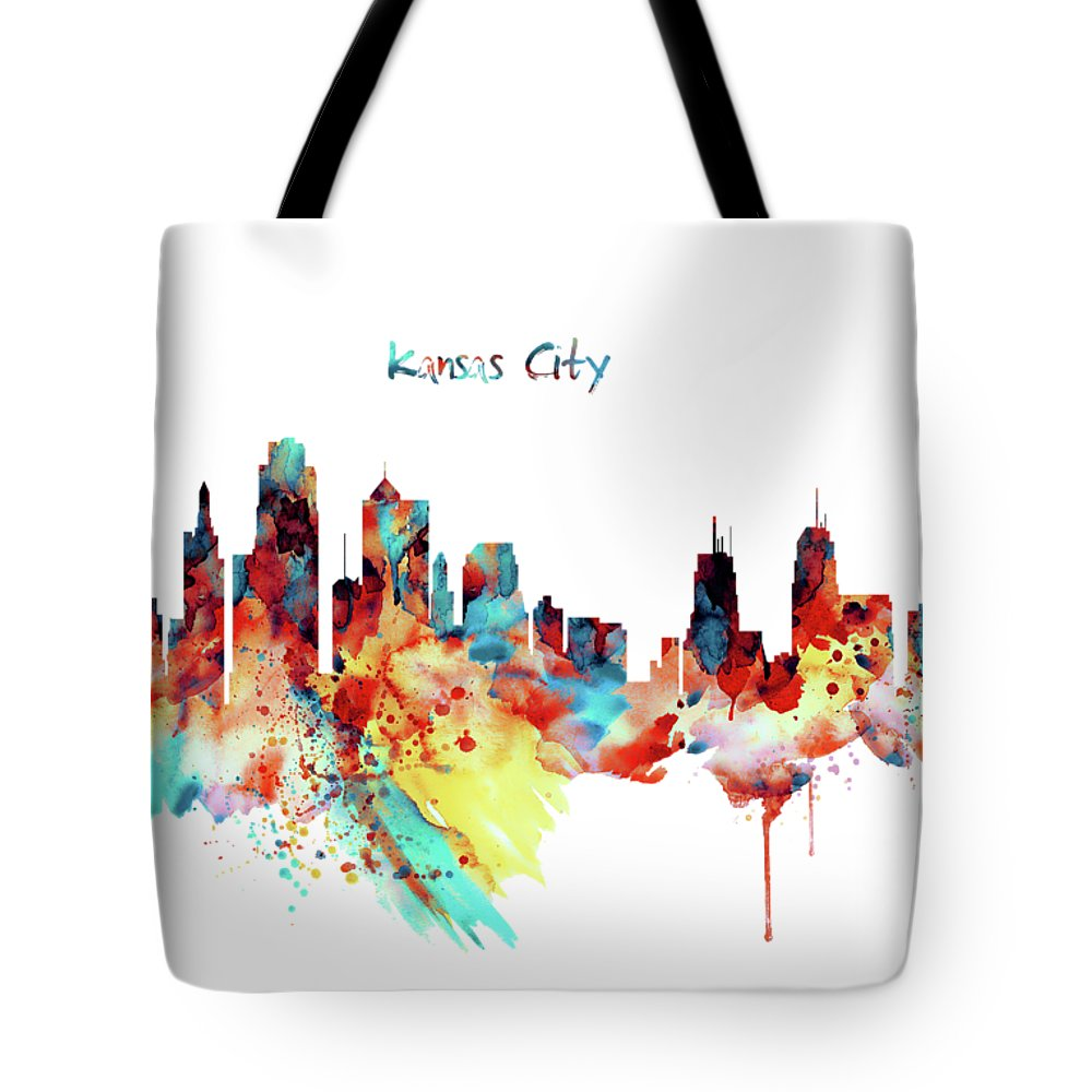 1000x1000 Kansas City Skyline Silhouette Tote Bag For Sale By Marian Voicu
