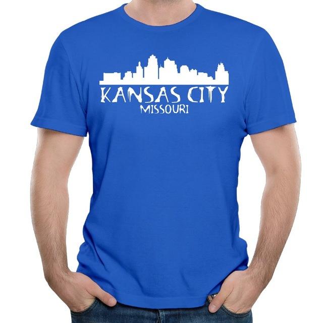 640x640 Kansas City Skyline Silhouette 2017 Design Men's T Shirt In T